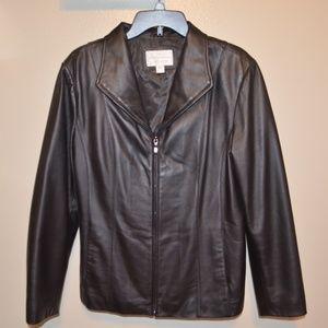 Worthington Genuine Lambskin Black Leather Jacket